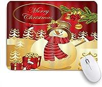 MISCERY マウスパッド メリークリスマス雪だるまツリーボール 高級感 おしゃれ 防水 端ステッチ 耐久性が良い 滑らかな表面 滑り止めゴム底 24cmx20cm