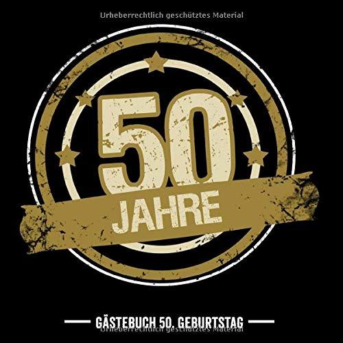 50. Geburtstag Gästebuch: Gästebuch Für Frau und Mann Geschenk 50er Geburtstag Gästebuch zum...