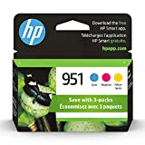 Original HP 951 Cyan, Magenta, Yellow Ink Cartridges (3-pack) | Works with HP OfficeJet 8600, HP OfficeJet Pro 251dw, 276dw, 8100, 8610, 8620, 8630 Series | Eligible for Instant Ink | CR314FN