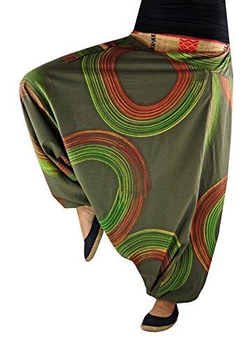 virblatt Haremshose Damen Herren Hippie Mode Frauen Aladinhose Haremshose Hippie Kleidung – Luftschloss