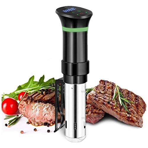 Slow Cooker-Kitchen Immersion Circulator-Kompaktkochmaschine, 800 Watt Grauer Zirkulator mit Touchscreen-Bedienfeld und Sicherheitsfunktion Home