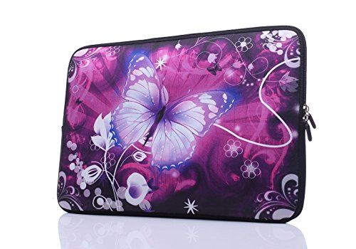 15-Inch to 15.6-Inch Laptop Sleeve Carrying Case Neoprene Sleeve for Acer/Asus/Dell/Lenovo/MacBook Pro/HP/Samsung/Sony/Toshiba, Pink Butterfly