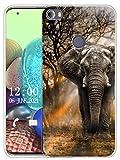 Sunrive Kompatibel mit Alcatel Idol 5 Hülle Silikon, Transparent Handyhülle Schutzhülle Etui Hülle (X Elefant)+Gratis Universal Eingabestift MEHRWEG