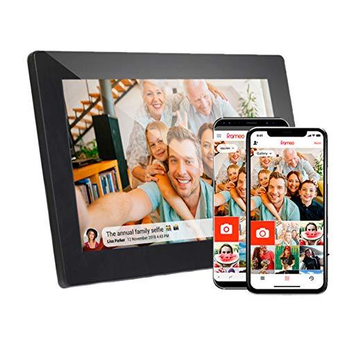 Marco De Fotos Digital WiFi Inteligente De 10.1 Pulgadas, Pantalla Táctil LCD 1280X800, Retrato De Rotación Automática Y Paisaje, Participe Momentos A Través De Cualquier Lugar