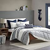 INK+IVY Shabby Chic Cotton Printed Comforter Set with Chenille II10-1061