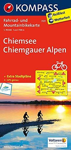 KOMPASS Fahrradkarte Chiemsee - Chiemgauer Alpen: Fahrrad- und Mountainbikekarte. GPS-genau. 1:70000: Fietskaart 1:70 000 (KOMPASS-Fahrradkarten Deutschland, Band 3121)