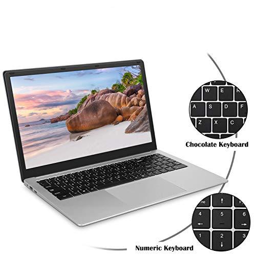 Laptop 15.6 inch Notebook (Intel Celeron CPU Quad Core 6GB DDR3 RAM 128GB SSD Storage 1920x1080 FHD Display Windows 10 OS Preinstalled) Laptops with WiFi Mini HDMI Webcam Independent Numeric Keypad