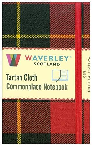 Wallace Modern Red:: Waverley Genuine Tartan Cloth Commonplace Pocket Notebook (9cm x 14cm)