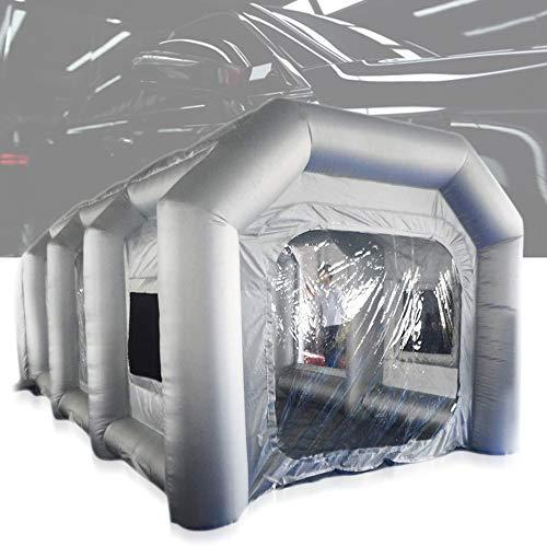 Berkalash Aufblasbare Sprühkabine Zelt, zum Sprühlackieren, Oxford PVC Aufblasbare Lackierkabine Zelt, Großes Autozelt Partyzelt Campingzelt Luftzelt (8 * 4 * 3M)