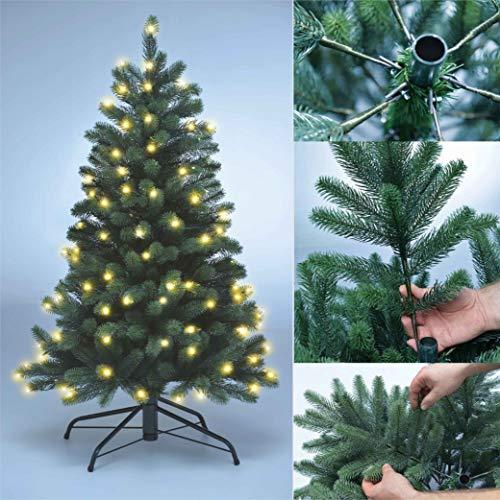 Xenotec PE- Weihnachtsbaum künstlich ca. 120 cm hoch mit 118 LED- warmweißes Licht- Das Original