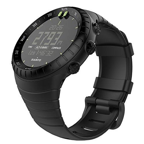 """MoKo Banda de Reloj para Suunto Core, Clásico Reemplazo Suave Puño/Pulsera con Cierre de Metal para Suunto Core Smart Watch, se Ajusta a la Muñeca de 5.51""""-9.06"""" (140mm-230mm), Negro"""