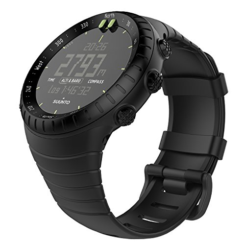 MoKo Suunto Core Watch Cinturino, Braccialetto di Ricambio in TPU Morbido con Gancio Metallico con Connettore Biella per Suunto Core Smart Watch, per Polso 5.51'-9.06' (140mm-230mm), Nero
