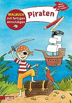 Paperback Malbuch mit farbigen Vorschlägen: Piraten [German] Book