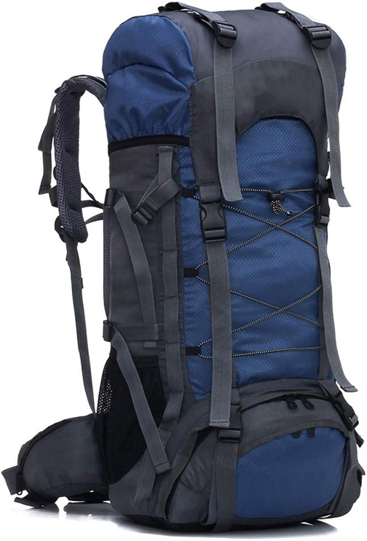 SHKY Wanderrucksack 60L Travel Daypack Wasserdicht mit Regenschutz für das Klettern Camping Bergsteigen, für Mnner und Frauen Skifahren Trekking Klettern
