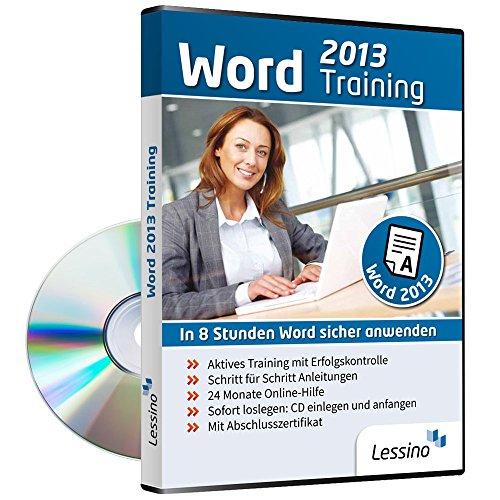 Word 2013 Training - In 8 Stunden Word sicher anwenden | Einsteiger und Auffrischer lernen mit diesem Kurs Schritt für Schritt wichtige Grundlagen von Word | CD inkl. Online-Kurs [1 Nutzer-Lizenz]