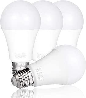 HengBo A19 LED Bulb, 100 Watt Equivalent 1200 Lumens Medium Screw Base Non Dimmable Light Bulb, 6500K Daylight White (4 - Pack)