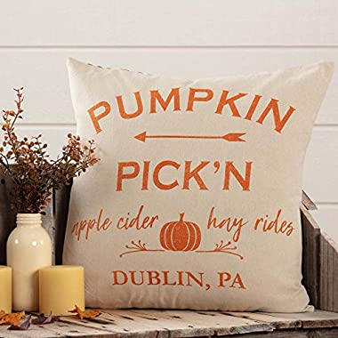 Piper Classics Pumpkin Pick'n Throw Pillow Cover, 20  x 20 , Autumn Harvest Country Farmhouse Home Décor Accent