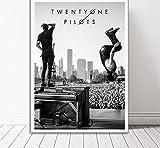 QIANLIYAN Poster Twenty One Pilots Music Band Carteles e Impresiones Lienzo Pintura Arte de la Pared Imagen para la habitación Decoración del hogar 40X60Cm Sin Marco