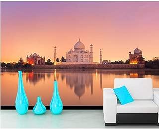Pbldb Taj Mahal India Evening Mosque Photo 3D Wallpaper Mural,Living Room Sofa Tv Wall Bedroom Wall Papers Home Decor-200X140Cm