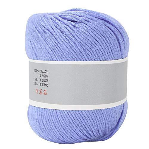 Pssopp Leche Hilo de algodón Colorido Bebé Leche Hilo de algodón Suave Chunky Leche de algodón...