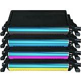 4x Kompatibler Eurotone Toner Set per Samsung CLP-770 CLP-775 Serie: CLP-770ND CLP-770NDK CLP-770NDKG CLP-775ND - alle colori - Black Cyan Magenta Yellow