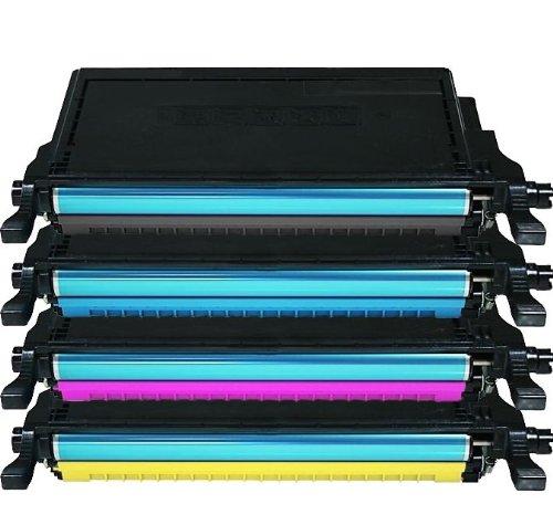 4X Eurotone Toner XXL für Samsung CLP-620 ND NDK + CLP-670 N ND NDK NK + CLX 6220 6250 FX - Black Schwarz + Cyan + Magenta + Gelb Yellow - Premium Alternative - XLset