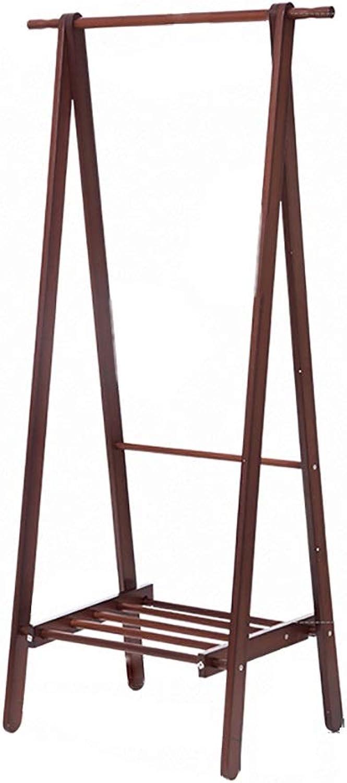 Gaoye Coat Rack, Bedroom Living Room Balcony Solid Wood Folding Hanger Brown