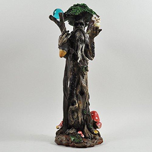 Tall Tree Ent avec Personnel et chouette Greenman décoratifs Jardin Myth Sculpture h30 cm
