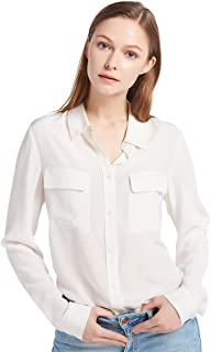 de3621e86ba92e LilySilk Women's Silk Shirt 18 Momme Long Sleeves 100% Pure Silk Blouse Tops