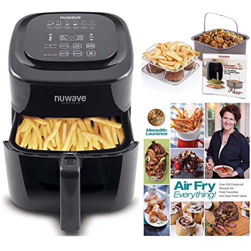 Nuwave 6 qt. Air Fryer with Gourmet Accessory Pack and Air Fryer Cookbook