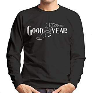 Goodyear Svart och vit logotyp herrtröja