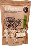 Inflame Fire Starters 24 pcs All Natural Firestarters - Easy Burn Fire and Charcoal - Super Fast Lighting Grill BBQ Wood Stove Campfires Fireplace Pellets