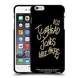 Oficial Riverdale Jughead Wuz Here Negro Oro Jughead Jones Funda de Gel Negro Compatible con Apple iPhone 6 Plus/iPhone 6s Plus