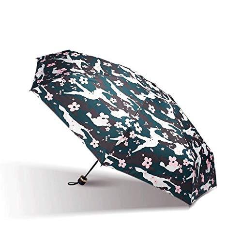LYMUP Paraguas, Cinco Veces, Paraguas Ultraligero Paraguas, Paraguas de la Bolsa UV de protección Solar