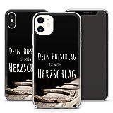 Handyhülle Pferde Sprüche für iPhone Apple Silikon MMM Berlin Hülle Spruch Liebe Pony Horse Pferd, Kompatibel mit Handy:Apple iPhone 6 / 6S, Hüllendesign:Design 5 | Silikon Klar