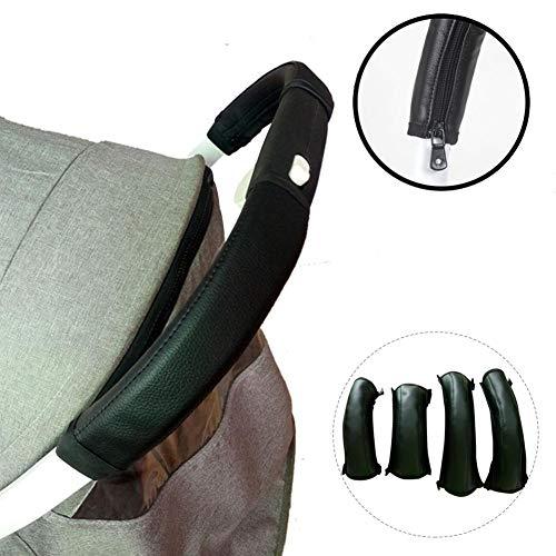 Schutzhüllen Für Babywagen Griff Babys PU Ledertaschen Für Kinderwagen Handgriff, Kinderwagen Griff Abdeckung Skid Multi Widerstand Rollstühle Anti-Rutsch-Matte Hand-Schutz-Abdeckung Werkzeuge