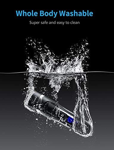 HATTEKERバリカン充電·交流式ヘアカッター散髪セットヒゲトリマー水洗いOK刈り高さ調節可0.5-24mm対応業務用家庭用子供用ブラック
