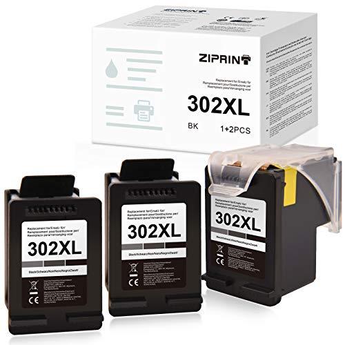 Ziprint Compatible HP 302 302XL Cartucho para HP OfficeJet 3833 3830 3831 3630 3639 Envy 4520 5130 4523 4524 DeskJet 1110 2130 3634 3636 3637 4658 4650 Impresora(3X Negro