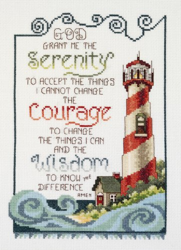 Janlynn Serenity Lighthouse Counted Cross Stitch Kit