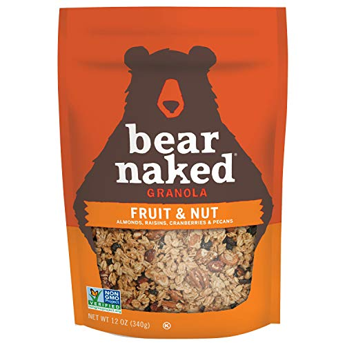 Bear Naked Fruit & Nut Granola - Non-GMO, Kosher, Vegetarian Friendly - 12 Oz (Pack of 6)