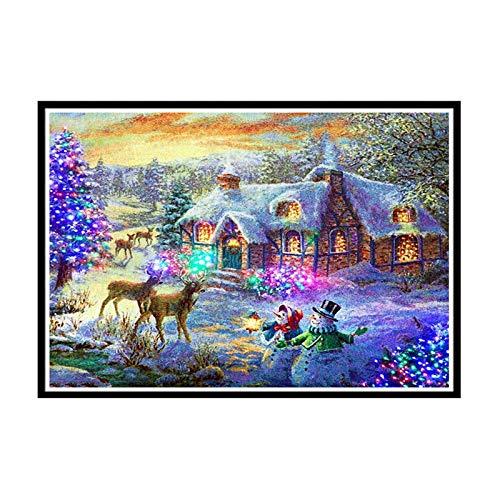 BBQQ - Kit de decoración de pared de Navidad con diamantes 5D para decoración de pared de Navidad, decoración de árbol de Navidad