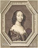 Art Print : Jean Morin, Honorine Grimberge, comtesse de Bossu, Historic Wall Décor : 08in x 10in