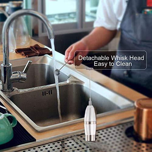 Elektrische Handmilch Aufschäumer Eier Beater Doppel Frühling Triple Spring Whisk Kopf Edelstahl Drink Mixer Kaffee Mak