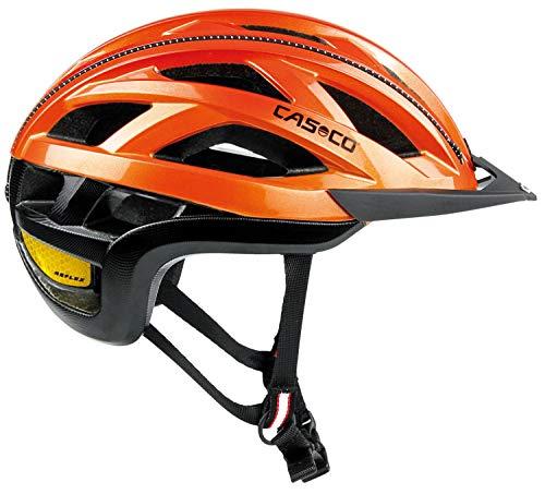 CASCO Cuda 2 Fahrradhelm - orange-Glanz, Kopfumfang:52-56 cm