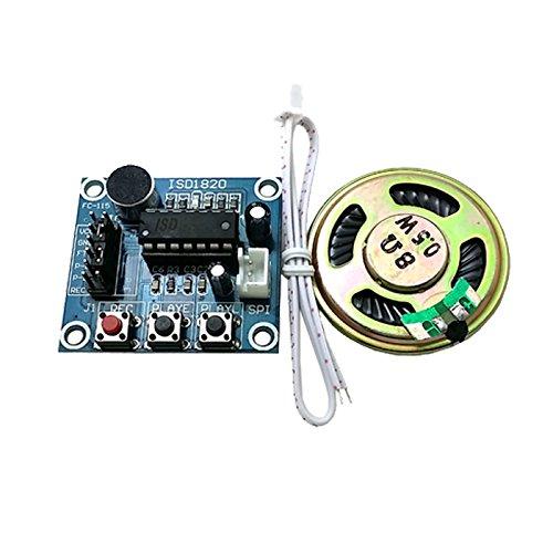YiWu ISD1820 Audio Sound Recording-Modul w/Mic, Lautsprecher - Deep Blue Zubehör