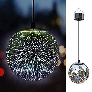TAKEME Solar Lights Outdoor Garden,Hanging Outdoor Decor Lights,Gazing Ball Pendant LED 3D Firework Waterproof Lights