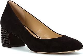 Michael Michael Kors Women's Arabella Suede Kitten Heel Pumps, Black, 6.5 B(M) US
