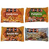 Brachs Candy Corn Seasonal Halloween Candy Variety Pack - Autumn Mix, Mellowcreme Pumpkins, Standard Candy Corn, and Turkey Dinner with Apple Pie and Coffee - 60.6 oz Total - Limited Edition Candy