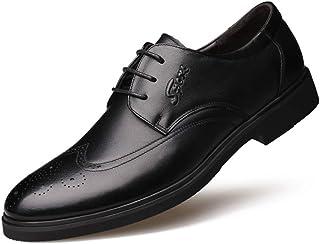 [ブウケ] メンズ ビジネスシューズ 紳士靴 合成皮革 内羽根式 ストレートチップ 軽量 抗菌 防臭 冠婚葬祭 フォーマル 26.0センチ 26.5センチ ブラック