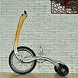 QWET Bicicleta De Pie Creativa Plegable, Sistema De DireccióN De Equilibrio DináMico De TraccióN Delantera, AutomóVil Deportivo, Carga MáXima De 95 Kg Sin Asiento,C